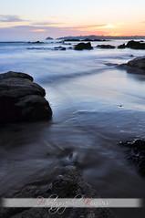 C'est l'heure de rentrer... (kimcass) Tags: mer plage coucherdesoleil finistère océan kimcass fortdeberthaume