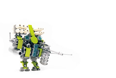 mecha02 (The Slushey One) Tags: green metal grey one robot neon lego lime slushey