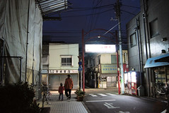 The entrance of Kamegaike Benzaiten  (urawa) Tags: japan night tokyo gate   akabane  kitaku parentandchild