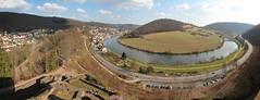 Neckarschleife bei Neckarsteinach (maxunterwegs) Tags: panorama river germany deutschland stitch pano stitched neckar alemanha alemagne neckarsteinach b37 hinterburg microsoftice