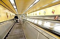 "Escalator up and down (Tony Shertila) Tags: england station liverpool underground squirrel europe britain escalator stairway chrome lookingdown merseyside dalestreet sefton fugative moorefields ""flickraward"" mygearandme"