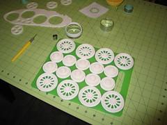 Locomotive Cake (Making the Gum Paste Wheels) (RDPJCakes) Tags: 3d fondant traincake sculptedcake ossas rdpjcakes locomotivecake