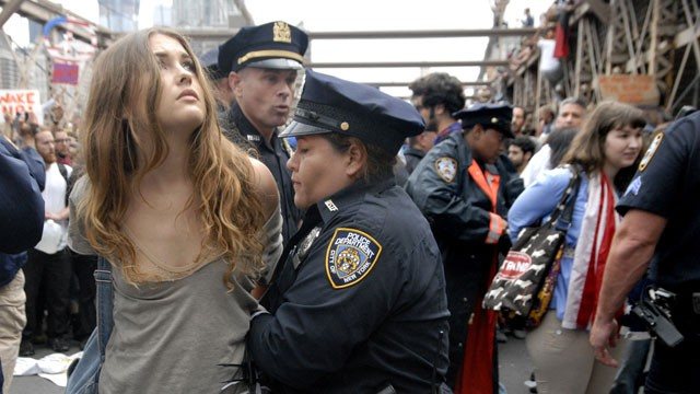 Girl Arrested on Wall Street