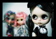 Malice Wondered... (GBaby - super busyyyy) Tags: eye art girl dark doll hand handmade ooak painted goth evil chips blythe custom 65 malice gbaby butsweet