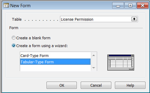 New Form - License Permissions