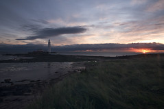 St Mary's Lighthouse (Laura donothey) Tags: sunrise landscape photography horizon northumberland northsea tyneandwear stmaryslighthouse northeastengland