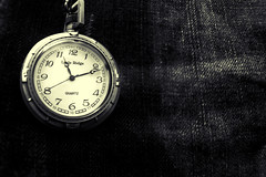 Time (jakemorgan96) Tags: white black texture clock canon vintage photography jake time watch fabric morgan t1i