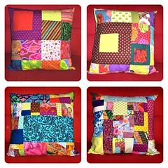 Kaffe cushion  covers (lenarod8) Tags: squares sofa cover dots patchwork reds cushion kaffefassett amybutler rojos almazuelas cojines topos brandonmably westminsterfabrics