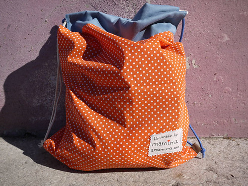 Eco-friendly drawstring bag to Margarida by mamima project