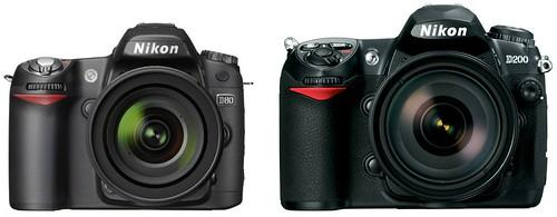 Nikon D80 vs Nikon D200
