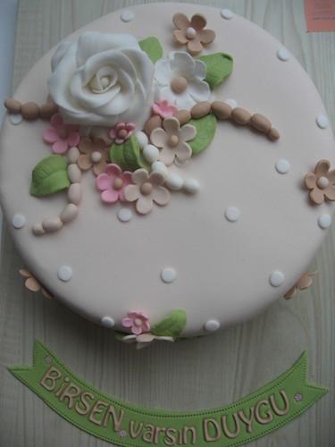 çiçekli pasta 004