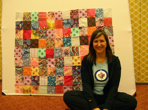 Kristie and her innocent crush quilt progress