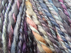 Muted tone wool close up