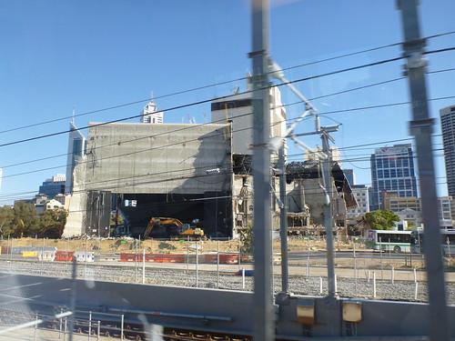 Entertainment centre demolition continues