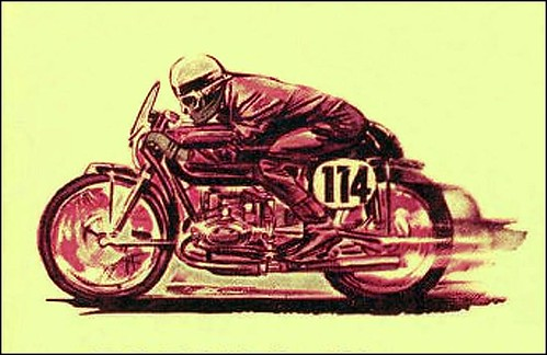 1950's BMW Race Graphic by bullittmcqueen