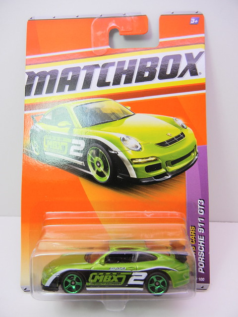 matchbox porsche 911 gt3 green (1)