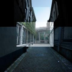 Steeg - collage (Jorinde Depicker) Tags: street city groen brussel stad straat steeg jorinde depicker