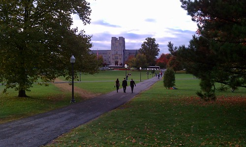 Burruss Hall from across the Drillfield