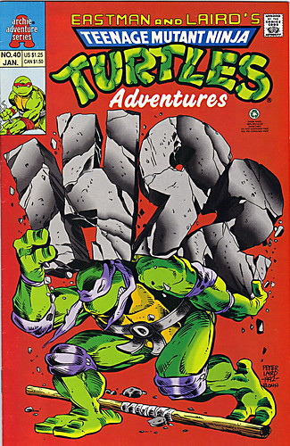 """Teenage Mutant Ninja Turtles Adventures""  #40 cover pencils by Laird, inks by Ryan Brown (( 1992 ))"