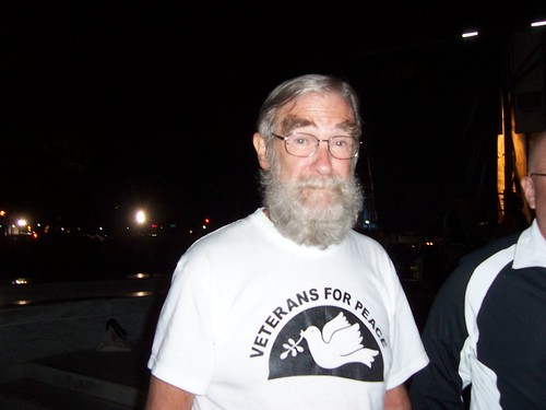 Ray McGovern at Freedom Plaza, one of two sites of the occupation in Washington D.C.