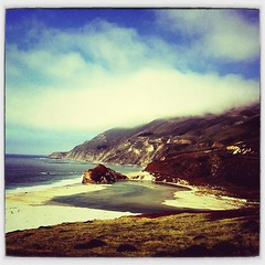 (DanLopez.) Tags: cameraphone ocean clouds way 1 coast high central bigsur line highway1 centralcoast iphone