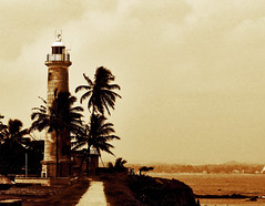 Galle Lighthouse - By Dimuth Weerasekera (Dimuth Weerasekera) Tags: sea lighthouse beach canon fort south southern sri lanka ceylon galle dimuth a720 weerasekera a720is