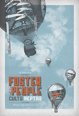 "Foster the People at The Fillmore ""Pumped Up Kicks"" (withayou) Tags: sanfrancisco illustration balloons poster design graphicdesign screenprint silkscreen rockposter reptar billgraham thefillmore gigposter cults fillmoreposter fosterthepeople pumpedupkicks"