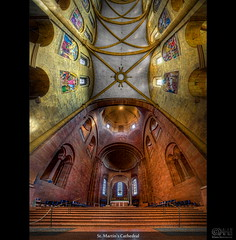 St. Martin's Cathedral (HDR Vertorama) (farbspiel) Tags: panorama history church photoshop germany geotagged ancient nikon cathedral historic handheld stitching photomerge mainz stitched dri deu hdr watermark hdri topaz rheinlandpfalz adjust superwideangle infocus 10mm postprocessing ultrawideangle photomatix tonemapped tonemapping stmartinscathedral denoise watermarking detailenhancer vertorama d7000 nikkorafsdx1024mmf3545ged geo:lat=4999895711 geo:lon=827434659