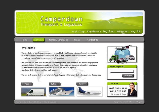 Transport and Logistics, Web Design