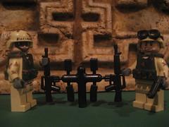 The troops get an upgrade! (Da-Puma) Tags: black call lego hawk duty down prototype m16 proto m9 brickarms