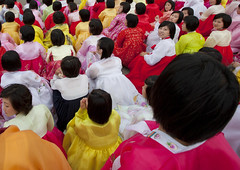 Waiting for the Mass bal - Pyongyang North Korea (Eric Lafforgue) Tags: 6371 insidenorthkorea dprk northkorea coree asia asie  korea coreadelnord    coreadelnorte coreiadonorte  nordkorea   rpdc  colors colours kimjongun war