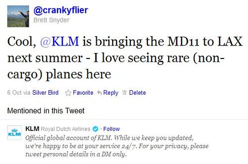 My KLM Tweet