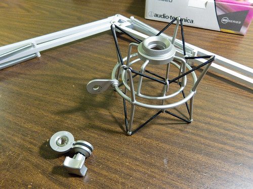 Shock mount swivel adapter disassembled