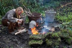 Firing Pottery (1) (hans s) Tags: pottery archeon prehistoric firing 2011