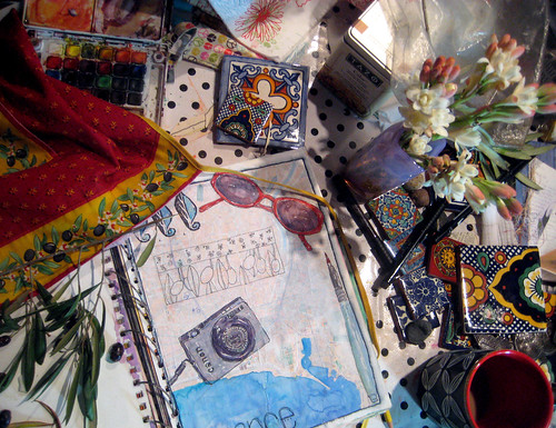 my studio table october 22_2011