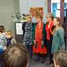 Vlaams minister Joke Schauvliege bij de afsluiting van bibliotheekweek te Kortrijk. De bibliotheekweek 2011 krijgt in de Kortrijkse bibliotheek wat extra cachet door de lancering van het nieuwe duurzame project 'Boekenbomen'.