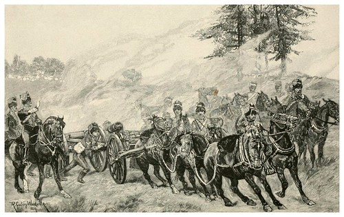 018-Ejercicios de practica de la artilleria real inglesa a caballo-The Armies of to-day.. (1892)-varios autores