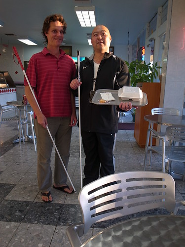 Daniel and me at Chinese Restaurant with Food Tray