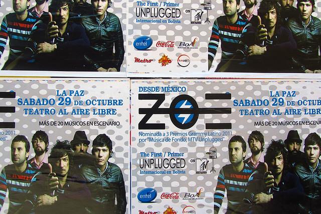 Zoe concert poster
