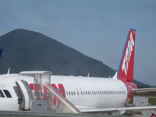 No aeroporto Florianópolis
