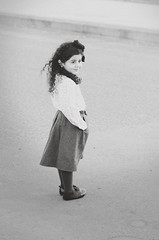 (Ebtesam.) Tags: white black girl kid nikon outdoor 85mm skirt curly saudi arabia jeddah gery  ebtesam