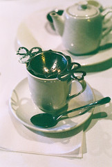 tea (pearled) Tags: food 35mm canon tea 35mmfilm teapot teacup canoneos saucer teaspoon canoneos300 teastrainer 35mmslr
