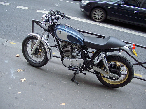 Paris and a neat custom SR500 by John Gulliver