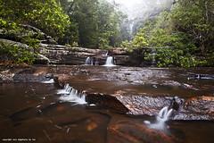 Natonal Falls (Tim Sanusi) Tags: green water river landscape waterfall interestingness rocks sydney tranquility australia explore slowshutter tranquil royalnationalpark quietplace sutherlandshire