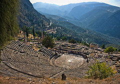 Theatre at Delphi (Ian@NZFlickr) Tags: oracle bravo delphi greece ampitheatre