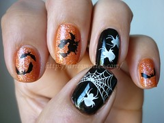 Halloween Nails (DriEsmaltes) Tags: hhalloween bm13 bundlemonster