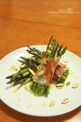 ... Sweet Flavours: Roasted Asparagus wrapped with Ham and Mint Sauce