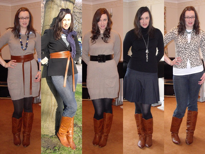 Tan boots collage 2