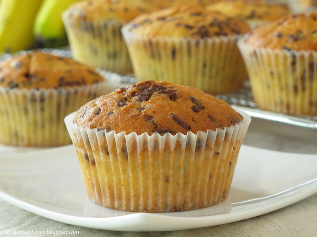 Banana and Chocolate rice cupcakes