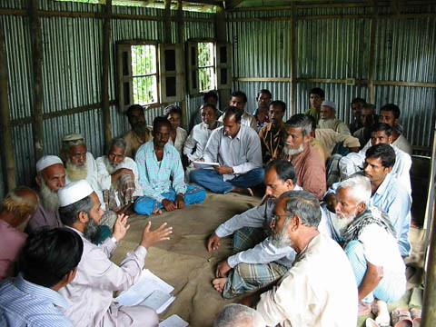 Farmers and fishers meeting, Bangladesh. Photo by WorldFish, 2008